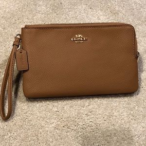 Authentic Coach Double Zip Wallet Wristlet